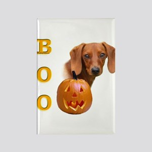 Smooth Dachshund Boo Rectangle Magnet