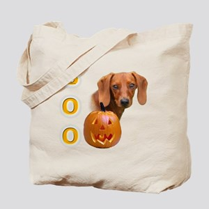 Smooth Dachshund Boo Tote Bag
