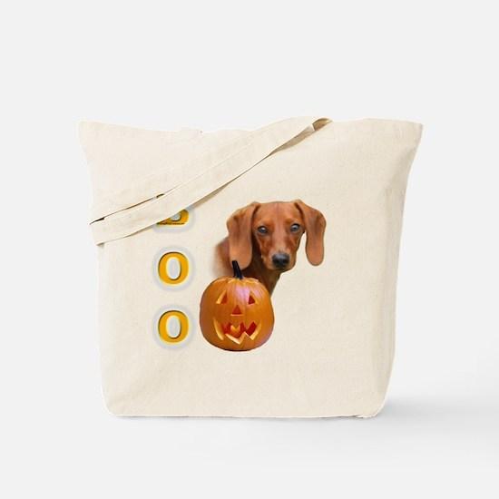 Smooth Dachshund Boo Tote Bag