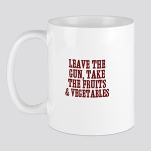 leave the gun, take the fruit Mug