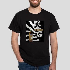 Cinzano, Zebra, Vintage Poster T-Shirt
