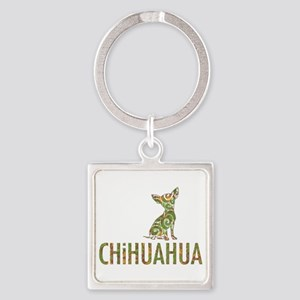 Camo Chihuahua - Square Keychain