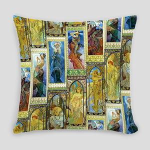 Mucha's Night and Day Master Pillow