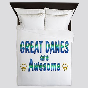 Great Danes are Awesome Queen Duvet