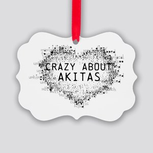 Crazy About Akitas Ornament