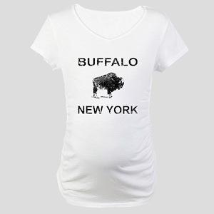 Dark Vintage Buffalo Maternity T-Shirt