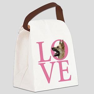 German Shepard Dog - Canvas Lunch Bag