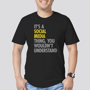 Its A Social Media Thi Men's Fitted T-Shirt (dark)
