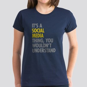 Its A Social Media Thing Women's Dark T-Shirt