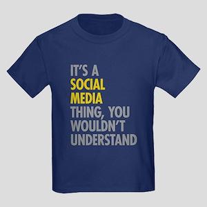 Its A Social Media Thing Kids Dark T-Shirt