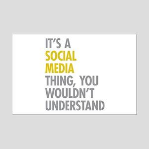 Its A Social Media Thing Mini Poster Print
