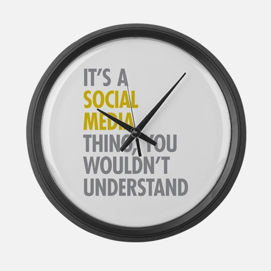 Its A Social Media Thing Large Wall Clock