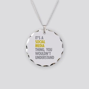 Its A Social Media Thing Necklace Circle Charm
