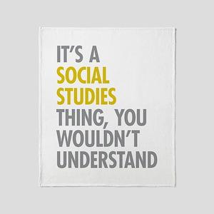 Social Studies Thing Throw Blanket