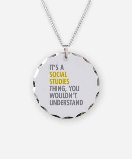 Social Studies Thing Necklace