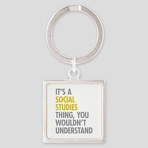 Social Studies Thing Square Keychain