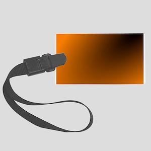 Orange and Black Large Luggage Tag