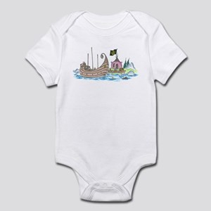 monkey pirate ship Infant Bodysuit