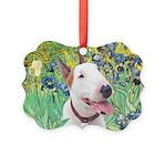 Bull Terrier (B) - Irises Picture Ornament