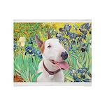 Bull Terrier (B) - Irises Throw Blanket