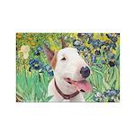 Bull Terrier (B) - Irises Rectangle Magnet