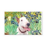 Bull Terrier (B) - Irises Rectangle Car Magnet