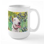 Bull Terrier (B) - Irises Large Mug
