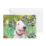Bull Terrier (B) - Irise Greeting Cards (Pk of 20)