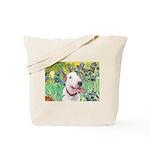 Bull Terrier (B) - Irises Tote Bag