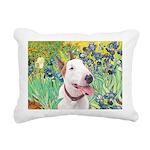 Bull Terrier (B) - Irise Rectangular Canvas Pillow