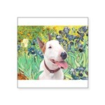 Bull Terrier (B) - Irises Square Sticker 3