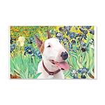 Bull Terrier (B) - Irises 20x12 Wall Decal
