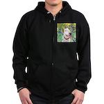 Bull Terrier (B) - Irises Zip Hoodie (dark)