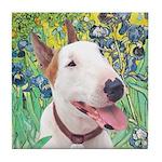 Bull Terrier (B) - Irises Tile Coaster
