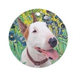 Bull Terrier (B) - Irises Ornament (Round)