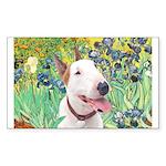 Bull Terrier (B) - Irises Sticker (Rectangle)