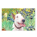 Bull Terrier (B) - Irises Postcards (Package of 8)