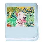 Bull Terrier (B) - Irises baby blanket
