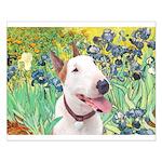 Bull Terrier (B) - Irises Small Poster