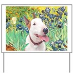 Bull Terrier (B) - Irises Yard Sign