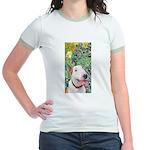 Bull Terrier (B) - Irises Jr. Ringer T-Shirt