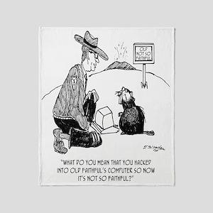Beaver Cartoon 1640 Throw Blanket