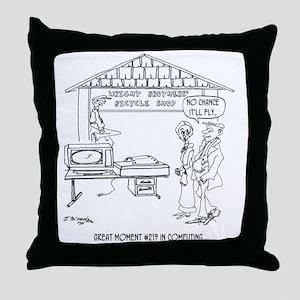 Computer Cartoon 1331 Throw Pillow