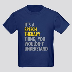 Its A Speech Therapy Thing Kids Dark T-Shirt