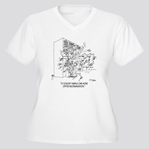 Reorganization Ca Women's Plus Size V-Neck T-Shirt