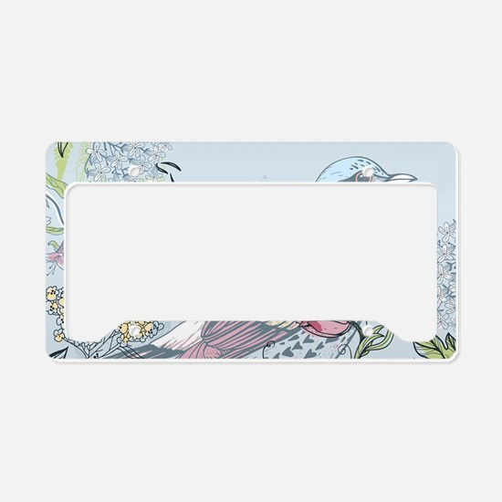 Bird and Flowers License Plate Holder