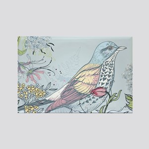 Bird and Flowers Magnets