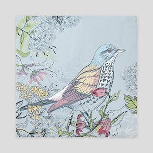 Bird and Flowers Queen Duvet