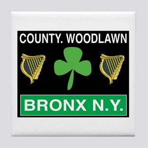 County Woodlawn Tile Coaster