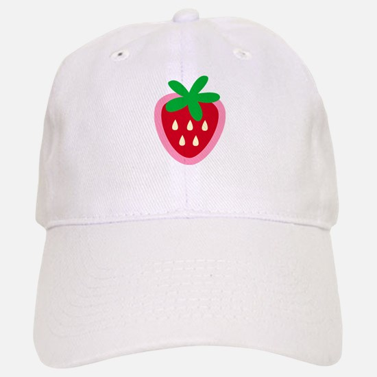Strawberry Solitaire Baseball Baseball Cap